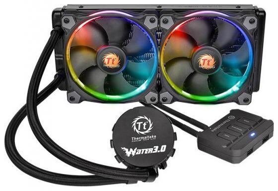 Водяное охлаждение Thermaltake Riing RGB 240 Socket LGA 2011-3/2011/1366/1156/1155/1151/1150/FM2/FM1/AM3+/AM3/AM2+/AM2 CL-W107-PL12SW-A отсутствует герменея 1 3 2011