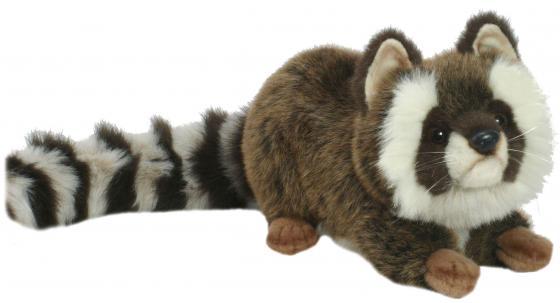 Мягкая игрушка енот Hansa Енот лежащий 74 см разноцветный искусственный мех синтепон пластик 2312 цены онлайн