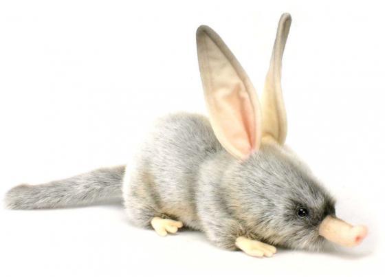 Мягкая игрушка кролик Hansa Билби 35 см серый синтепон искусственный мех 2780 hansa кролик черный 25 см