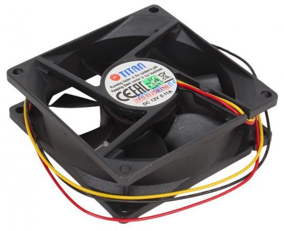 Вентилятор Titan TFD-8025M12B 80mm 2500rpm система охлаждения корпуса пк titan tfd 5010m12z tfd 5010m12z