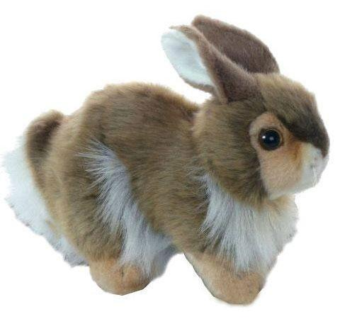 Мягкая игрушка кролик Hansa Кролик 23 см разноцветный пластик искусственный мех синтепон 2796 мягкие игрушки hansa кролик 23 см