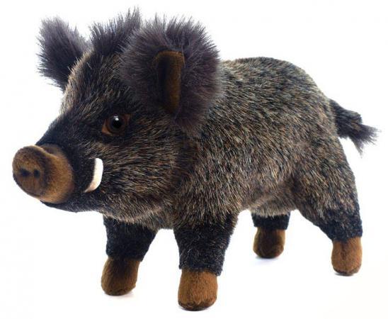 Мягкая игрушка кабан Hansa Кабан 29 см коричневый черный искусственный мех синтепон пластик 2830 мягкая игрушка енот hansa енот лежащий 74 см разноцветный искусственный мех синтепон пластик 2312