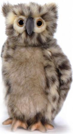 Мягкая игрушка сова Hansa Сова, 25 см серый искусственный мех синтепон 4136 мягкая игрушка сова hansa сова белая 18 см белый искусственный мех синтепон 6155