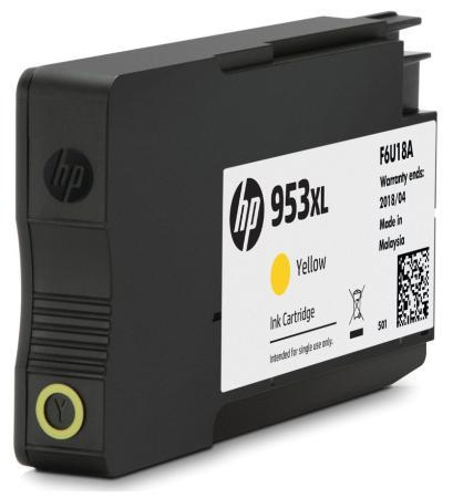 Картридж HP 953 F6U14AE для HP OJP 8710/8720/8730/8210 желтый 700стр картридж hp 953 f6u14ae для hp ojp 8710 8720 8730 8210 желтый 700стр