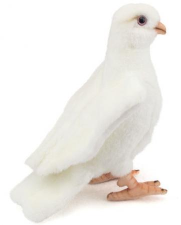 Мягкая игрушка птица Hansa Белый голубь 20 см белый искусственный мех 5434 мягкая игрушка hansa лебедь белый 27 см 4085
