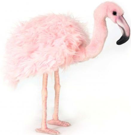 Мягкая игрушка фламинго Hansa Розовый фламинго 38 см розовый искусственный мех синтепон 5680 мягкая игрушка курица hansa эльзасская курица 34 см разноцветный искусственный мех синтепон 6037