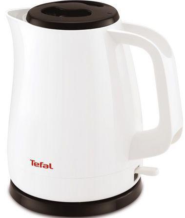 Чайник Tefal KO150130 2200 Вт белый чёрный 1.5 л пластик миксер ручной tefal tefal ht300188 250 вт белый желтый
