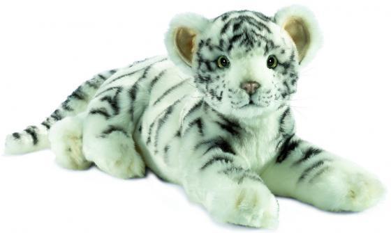 Мягкая игрушка тигр Hansa Детеныш белого тигра лежащий 36 см белый искусственный мех 4754 тигр лежащий t2021k o