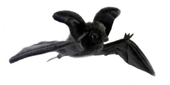 Мягкая игрушка летучая мышь Hansa Летучая мышь 37 см черный пластик синтепон искусственный мех 4793 электроплита hansa fccw 54002