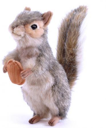 Мягкая игрушка белка Hansa Белка стоящая 20 см серый искусственный мех 4841 мягкая игрушка белка hansa белка летяга искусственный мех серый 21 см 4116