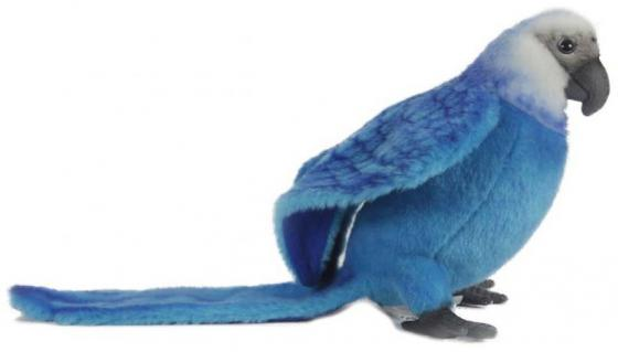 Мягкая игрушка попугай Hansa Голубой Ара 27 см голубой искусственный мех 6790 granfest r580l terracotta