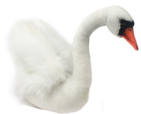 Мягкая игрушка лебедь Hansa Лебедь 32 см белый искусственный мех 2983 полотенце махровое мойдодыр 40х70