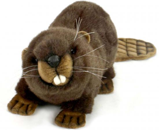 Мягкая игрушка бобер Hansa Бобёр 32 см коричневый искусственный мех 3074Б hansa бобёр 32 см