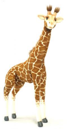 Мягкая игрушка жираф Hansa Жираф стоящий 70 см разноцветный искусственный мех синтепон 3304 мягкие игрушки hansa жираф 38 см