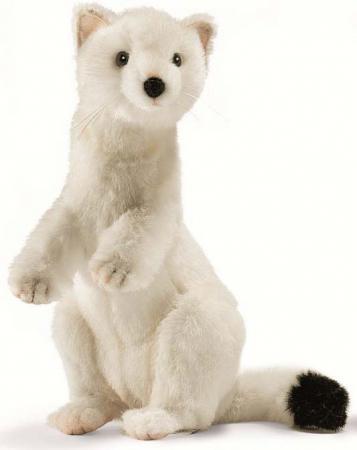 Мягкая игрушка горностай Hansa Горностай зимний окрас 30 см белый искусственный мех 4860 сбарт сиамский купальник противосолнечная одежда медузы одежда дайвинг костюм дайвинг