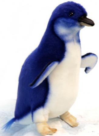 Мягкая игрушка пингвин Hansa Малый пингвин 20 см синий белый искусственный мех синтепон 6103