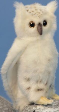 Мягкая игрушка сова Hansa Сова белая 18 см белый искусственный мех синтепон 6155 мягкая игрушка сова hansa сова выпускник искусственный мех синтепон белый 18 см 6326