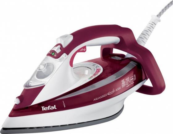 Утюг Tefal FV5535E0 2600Вт красный белый утюг tefal turbo pro fv5630e0
