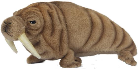 Мягкая игрушка морж Hansa Морж 26 см коричневый искусственный мех синтепон 7025 мягкая игрушка ежик hansa пустынный ежик 25 см коричневый искусственный мех синтепон 4690