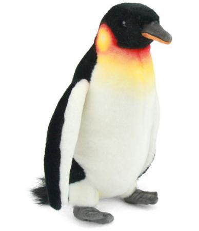 Мягкая игрушка пингвин Hansa Императорский пингвин 24 см белый черный искусственный мех синтепон 3159 мягкая игрушка шимпанзе hansa шимпанзе искусственный мех синтепон черный 24 см 4960