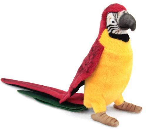 Мягкая игрушка птица Hansa Желтый попугай 37 см разноцветный искусственный мех синтепон пластик 3323 мягкая игрушка попугай hansa большой белохохлый какаду 22 см белый искусственный мех 3916