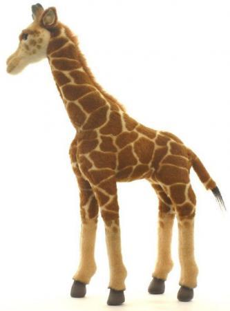 Мягкая игрушка жираф Hansa Жираф 50 см разноцветный искусственный мех синтепон пластик 3429 мягкая игрушка енот hansa енот лежащий 74 см разноцветный искусственный мех синтепон пластик 2312