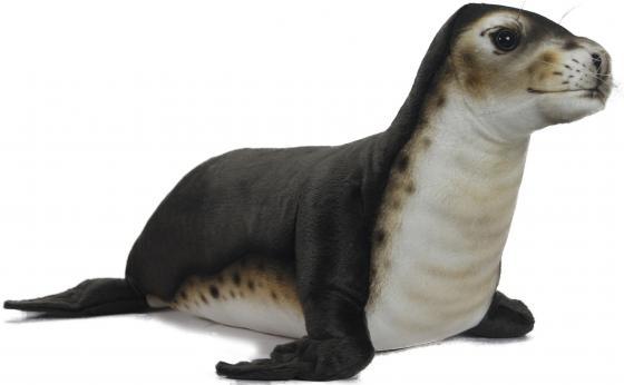 Мягкая игрушка тюлень Hansa Тюлень-монах 65 см черный белый искусственный мех синтепон 6791 игрушка мягкая ty inc beanie boo s белый тюлень icing 25 см 37046