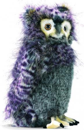 Мягкая игрушка филин Hansa Филин 35 см серый фиолетовый искусственный мех синтепон 3678 мягкая игрушка бык hansa 5418 искусственный мех серый 16 см