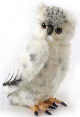 Мягкая игрушка сова Hansa Полярная сова 33 см серый искусственный мех синтепон 3836 мягкие игрушки hansa полярная сова 33 см