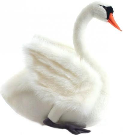 Мягкая игрушка лебедь Hansa Лебедь 27 см белый искусственный мех синтепон 4085 мягкие игрушки hansa лебедь белый 27 см