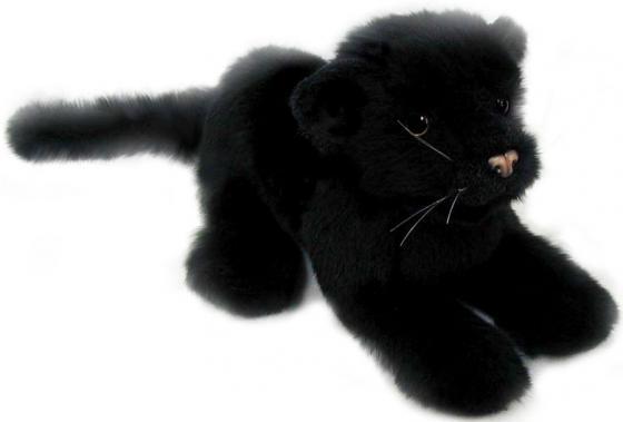 Мягкая игрушка пантера Hansa Детеныш черной пантеры 26 см черный искусственный мех синтепон пластик 4090 электроплита hansa fccw 54002