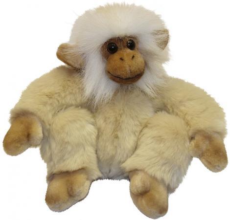 Мягкая игрушка обезьянка Hansa Обезьянка сидящая палевая 20 см бежевый искусственный мех синтепон 2838 мягкие игрушки hansa обезьянка сидящая палевая 20 см