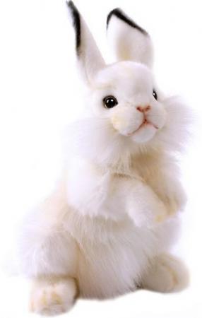 Мягкая игрушка кролик Hansa Белый кролик 32 см белый искусственный мех синтепон 3313