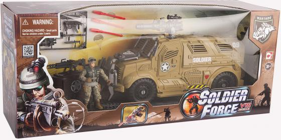 Игровой набор CHAP MEI Бронемобиль пехоты (1 фигура, стреляет) 521005 игровой набор chap mei мобильный ракетный комплекс 2 фигуры свет стреляет 521006