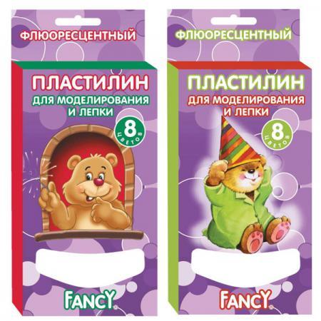 Пластилин Fancy FANCY 8 цветов FMC8-60 пластилин fancy 6 цв 60 гр карт уп с европодвесом