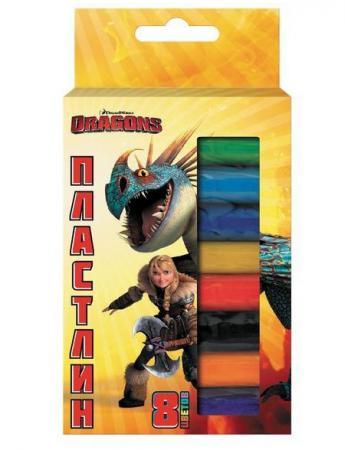 Набор пластилина Action! DRAGONS 8 цветов DR-AMC8-110
