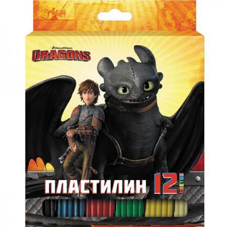 Набор пластилина Action! DRAGONS 12 цветов DR-MC12-240 набор для битв dragons zippleback vs zipplecatcher