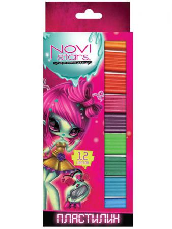 Набор пластилина Action! NOVI STARS 12 цветов NS-MC12-170 в ассортименте