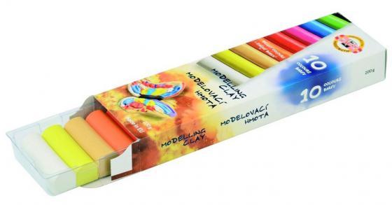 Набор пластилина Koh-i-Noor 131710 10 цветов koh i noor koh i noor набор для рисования toison dor пастель мягкая 36 цветов