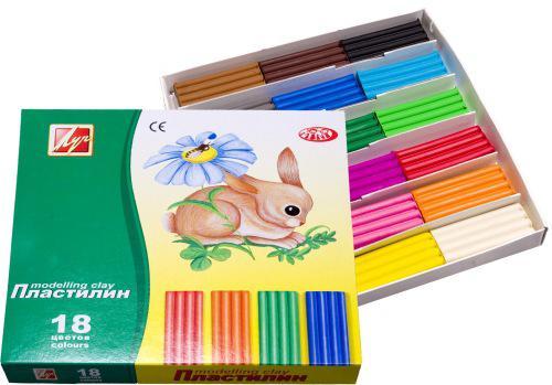 Пластилин Луч ЗОО 18 цветов 20С1358-08 пластилин луч 12c 784 08 12с784 08 11 цветов