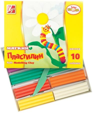 Набор пластилина ЛУЧ Кроха 10 цветов 12С875-08