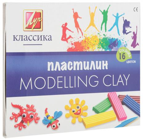 Набор пластилина Луч Классика 16 цветов 20С1329-08 со стеком пластилин детский классика 16 цветов 20с 1329 08