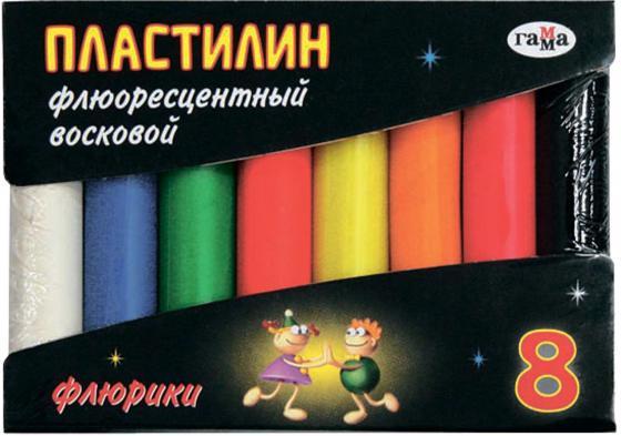 Пластилин Гамма ФЛЮРИКИ 8 цветов 281035
