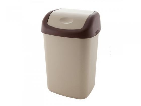 Контейнер для мусора с плавающей крышкой, 14 л, пластик, цвет в ассорт. ПБ-С327 контейнер для мусора violet дерево цвет коричневый желтый 8 л