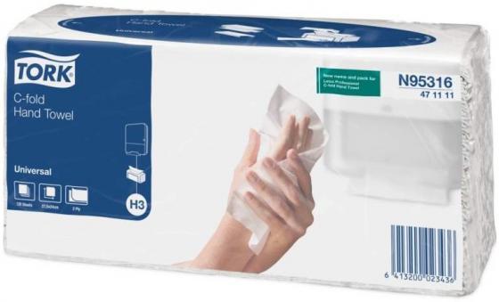 Полотенца бумажные TORK SINGLEFOLD, C-сложения, Н3, 120 л, 2-сл., 24х27,5 см, натур. белые 471111-01/K полотенца бум belux z сложения белые 2х сл 200л 16шт 2488