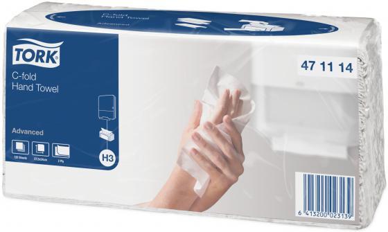 Полотенца бумажные TORK SINGLEFOLD, C-сложения, Н3, 120 л, 2-сл., 24х27,5 см, белые дозатор tork 560008