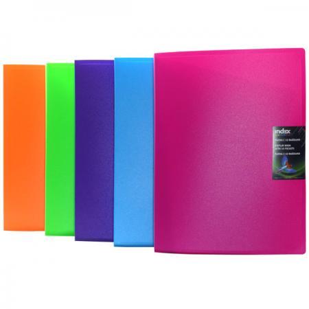 Папка с 10 файлами COLOURPLAY, ф.A4, 0,6мм, прозрачная, ассорти ICPD10/ASS цена и фото