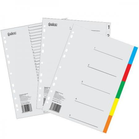 Разделитель пластиковый, цветной (10 цв.), А4 IND110/10 цена и фото