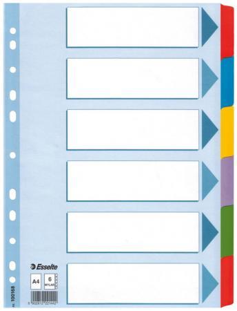 Разделитель Mylar картонный, цветной, А4, на 6 разделов 100168 разделитель картонный цифровой 1 31 ф а4 цветной
