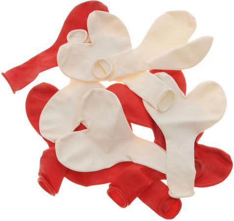 Купить Набор шаров Action! Сердечки красные и белые 10 шт API0043/M, Атрибуты для праздника